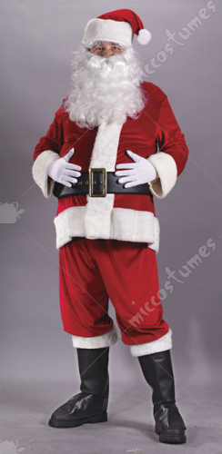 Santa Suit Rich Velvet Adult Costume