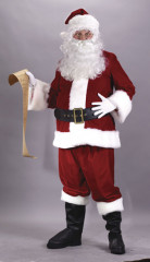 Santa Suit Ultra Velvet Adult Costume