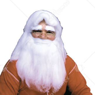 Santa Wig Beard Cotton With Hair