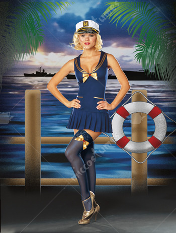 Seaside Pinup Adult Costume