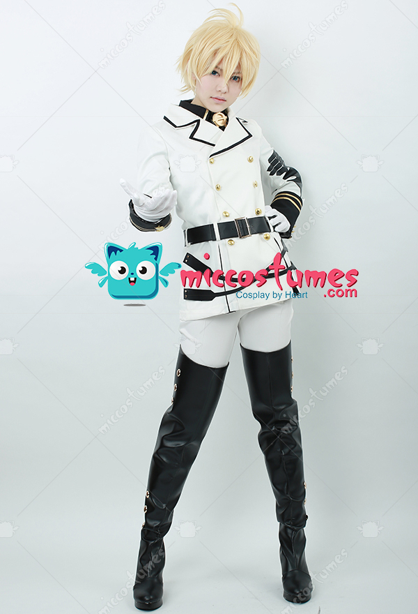 Seraph of the end mikaela hyakuya cosplay costume for sale