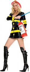 Sexy Female Fire Fighter Adult Costume Dress