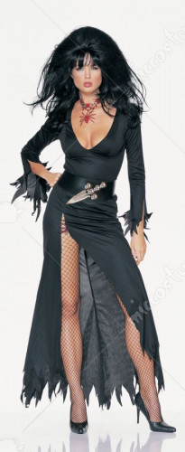 Sexy Elvira Black Dress