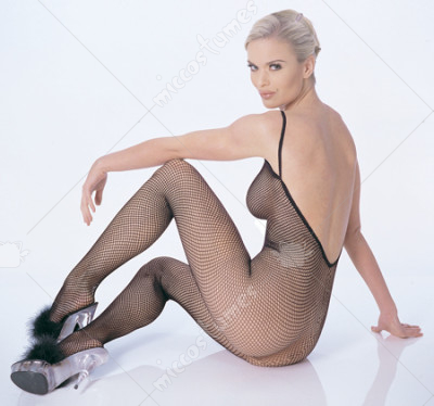 Short haired MILF Katja Kassin models sexy fishnet bodystocking № 57867  скачать