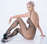 Sexy Fishnet Bodystocking V-Back