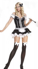 Sexy French Maid 2 PC Adult Costume