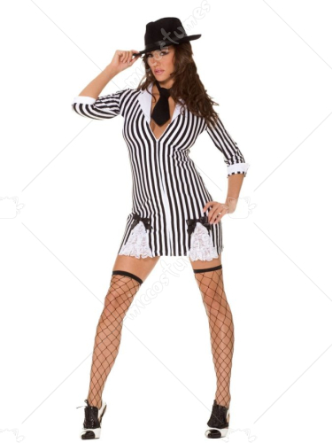 Sexy Gangster Girl Adult Costume