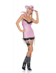 Sexy Pink Cowgirl Adult Costume