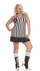 Sexy Racy Referee Adult Plus Costume