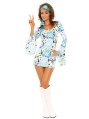 Sexy Retro Print Dress Adult Costume