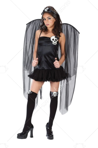 Sexy Skull Fairy Teen Costume