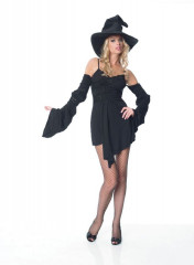 Sexy Witch Dress With Hat Adult Costume