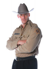 Sheriff Shirt Mens One Size Adult Costume