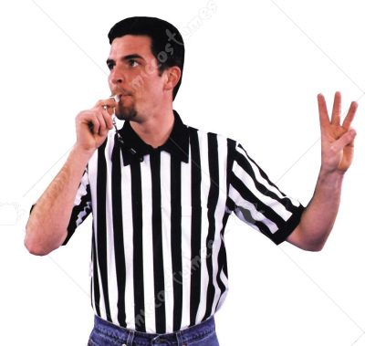 Shirt Referee Adult Costume