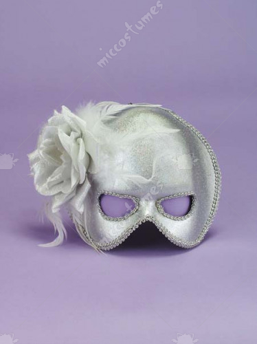 Silver Best Ever Mask with Bow