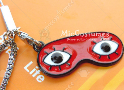 Silver Soul Eyeshade Phone Chain