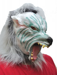 Silver Wolf With Hair Mask