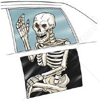 Skeleton Back Seat Ghoul