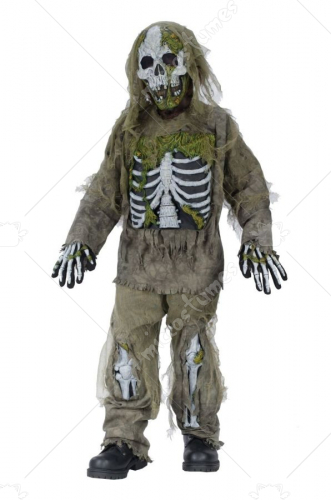 Skeleton Zombie Child Costume