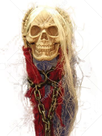 Skull Hanging With Hands Chain