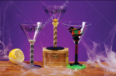 Skull Martini Glasses
