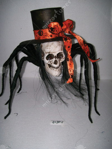 Skull Spider With Top Hat 35In