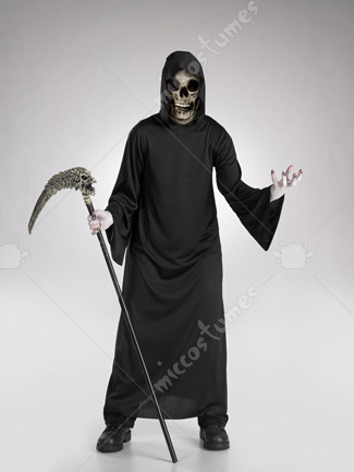Skull Stocking Mask Robe Costume