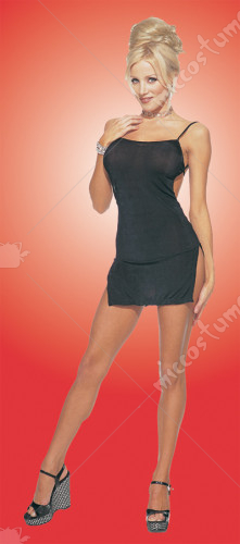 Slinky Mini Dress Black Adult Costume