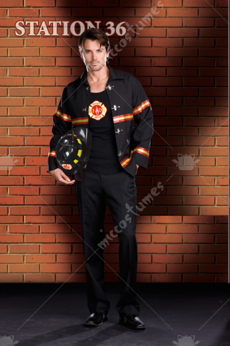 Smoking Hot Fire Department Male Adult Costume