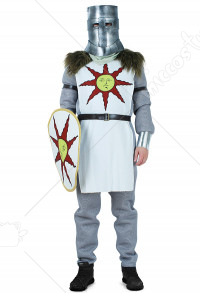 Dark Souls Solaire de Astora Warrior of Sunlight Disfraz de Cosplay con escudo
