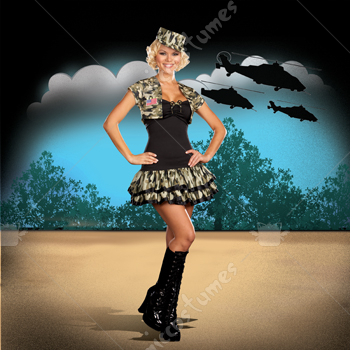 Soldier Girl Adult Costume
