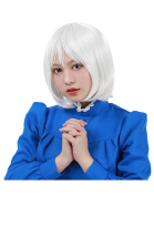 Howl's Moving Castle Sophie Cosplay perruque courte en argent