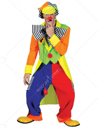 Spanky Stripes Adult Clown