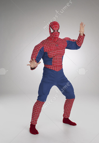 SpiderMan Muscle Chest Dark Red Adult Costume