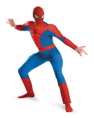 Spider Man Deluxe Muscle Adult Costume