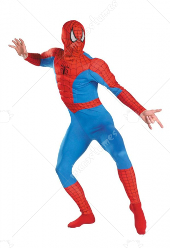 Spiderman Muscle Chest Adult Costume