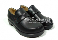Square Toe Belt Vamp Leather Japanese School Shoes