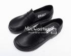 Square Toe Half Vamp PU Japanese School Shoes