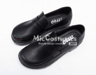 Square Toe Half Vamp PU Japanese School Shoes