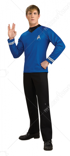 Star Trek Blue Movie Deluxe Shirt Adult Costume