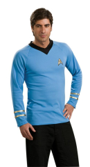 Star Trek Classic Blue Shirt Adult Costume