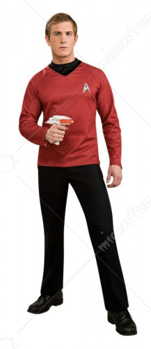 Star Trek Movie Deluxe Red Shirt Adult Costume