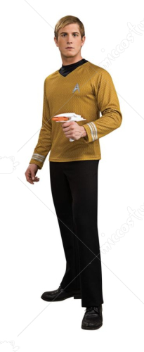 Star Trek Movie Deluxe Shirt Gold Adult Costume