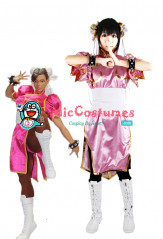 Street Fighter Chun Li Pink Cosplay Costume