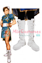 Street Fighter Chun Li Cosplay Shoes Boots