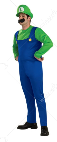 Super Mario Luigi Adult Costume
