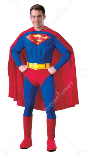 Superman Muscle Deluxe Adult Costume