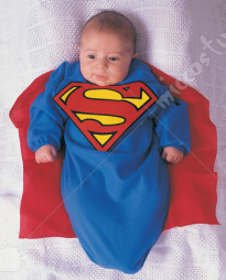 Superman Deluxe Bunting Infant Adult Costume