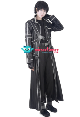 Premium Sword Art Online Kirito Cosplay Leather Costume