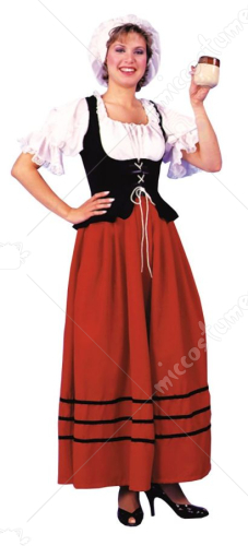 Tavern Wench Red and Black Costume